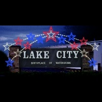Lake City Sign with Star<br />Enhancer
