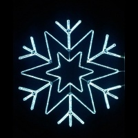 5' Stylized Arctic Star<br />Snowflake