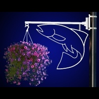 Flower Basket Holder Salmon