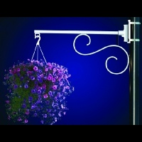 Flower Basket Holder Single<br />Scroll