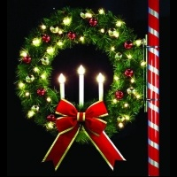 4' Oregonian Tri Candle Wreath