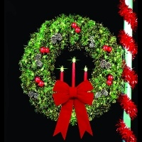 61 in Traditional Tri Candle<br />Royal Pine Wreath