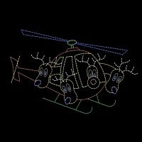 12' x 19' Reindeer Flying<br />Helicopter