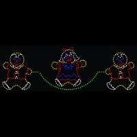7' x 22' Gingerbread Children<br />Jumping Rope