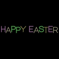 3' x 31' Happy Easter<br />Staggered
