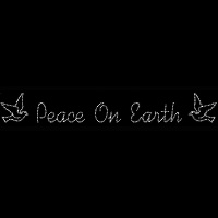 45' Silhouette Peace on Earth<br />with Doves