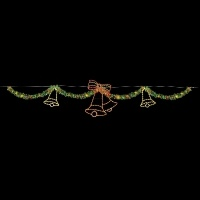 40' Garland Skyline with<br />Silhouette Holiday Bells