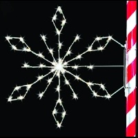 5' Silhouette Crystal<br />Snowflake