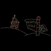 20' x 26' North Pole with<br />Waving Elf and Castle