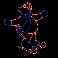 11' Skating Bear Facing Right