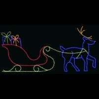 14' x 30' Sleigh and Reindeer