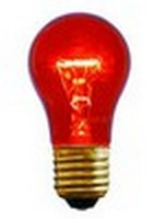 A15 (15W) Party Bulb Transparent Red
