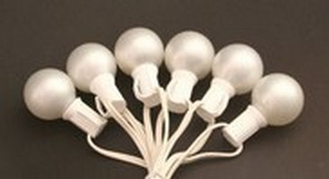 G30, G40, G50 Pearl White Globe Light String Set