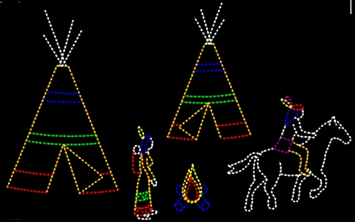 19' x 30' Native American Scene