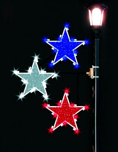 4' Glitter Mesh Stars