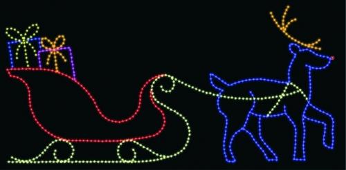 14' x 30' Sleigh and Reindeer