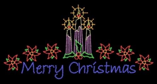 18' x 35' Festive Merry Christmas