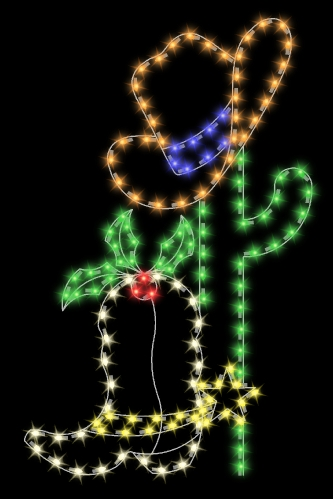 7' Cactus with Cowboy Hat