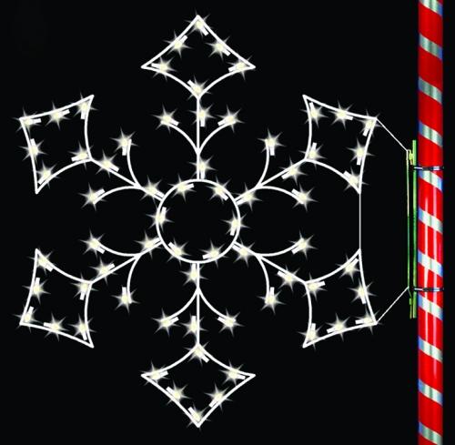 5' Silhouette Alpine Snowflake
