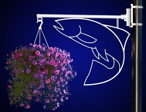 Flower Basket Holder Salmon