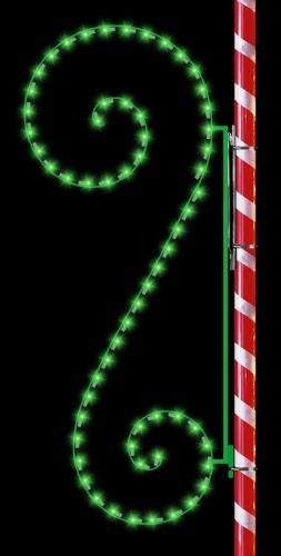 8' Classic Silhouette Scroll Green