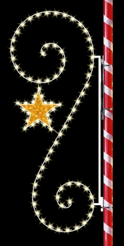 8' Silhouette Scroll with Star