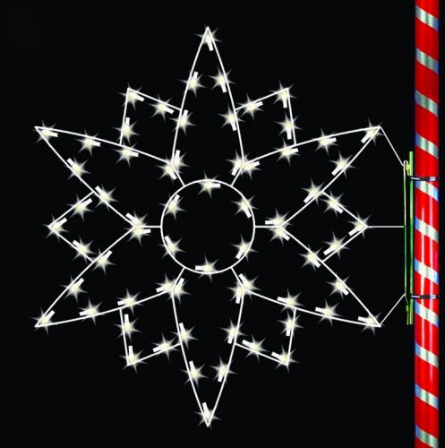 5' Silhouette Edelweiss Snowflake
