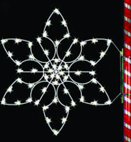 5' Silhouette Yosemite Snowflake