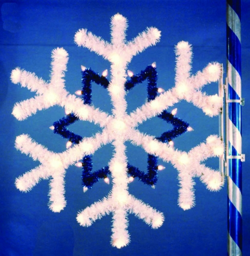 5' Snowflake White and Blue