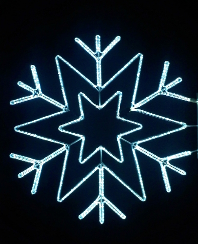 5' Stylized Arctic Star Snowflake