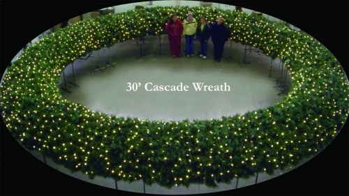 30' Cascade Wreath Built