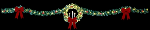 40' Tri Candle Wreath Skyline