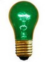 A15 (15W) Party Bulb Transparent Green