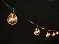 Black Patio Light String