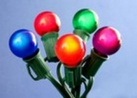G30, G40, G50 Satin Multicolor Globe Light String Set