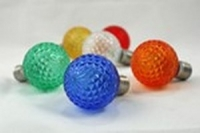 LED G30, G40, G50 Multicolor Faceted Replacement Bulbs