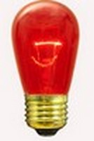 11S14 (11W) Bulb Transparent Red