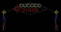 Dueces Diner Custom Arch