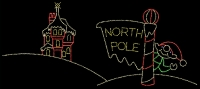20' x 26' North Pole with Waving Elf and Castle