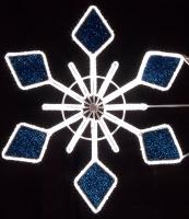 4' Stylized Crystal Snowflake