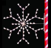 5' Silhouette Arctic Snowflake