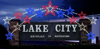 Lake City Sign with Star Enhancer