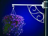Flower Basket Holder Arc and Scroll