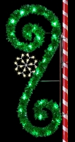 8' Garland Scroll with Snowflake