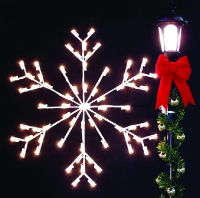 4' Silhouette Arctic Snowflake