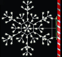 5' Silhouette Cascade Snowflake