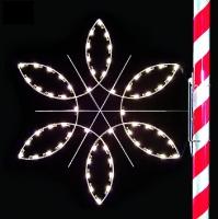 5' Silhouette Fantasy Snowflake