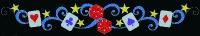 6' x 40' casino Skyline with Glitter Mesh