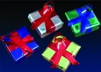 4 x 4 x 2 in Metallic Wrapped Packages
